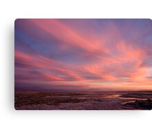 sunset over laguna Chaxas Canvas Print