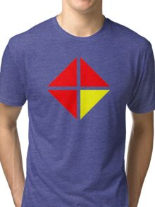 Red and Yellow in combination Tri-blend T-Shirt