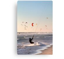 Kitesurfers Paradise at Sunset Canvas Print