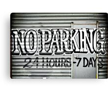 No Parking Graffiti Canvas Print