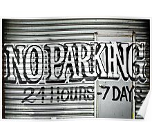 No Parking Graffiti Poster