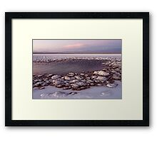 Sunset at laguna Tebinquinche Framed Print