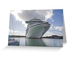 Azura docked in St Maarten, Caribbean Greeting Card