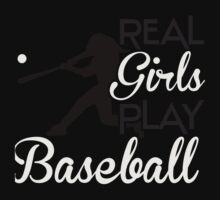 Real girls play baseball Kids Tee