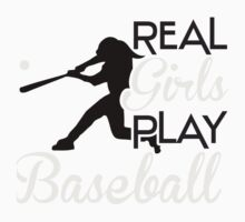Real girls play baseball One Piece - Long Sleeve