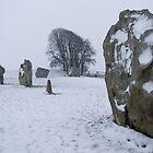 Avebury in the Snow by Sandra Mangnall