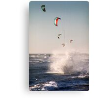 Landing in a Splash Canvas Print