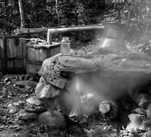 Moonshine Still in Black and White by Greg and Chrystal Mimbs