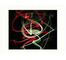 Dancing Glow Sticks Art Print