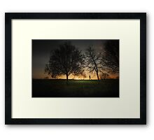 Evening Jog Framed Print