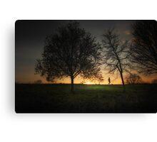 Evening Jog Canvas Print
