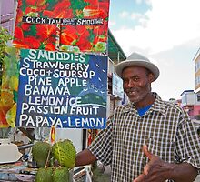 Smoothies stall in Antigua Caribbean by Keith Larby