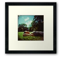 Your mind will answer most questions  Framed Print