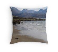The Torridon Mountains from Big Sand Beach Throw Pillow