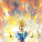 Dragon Ball Z - Super Saiyan Goku by BRTDRCKNS