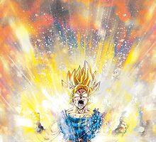 Dragon Ball Z - Super Saiyan Goku by BRTDRCKNS