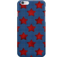 Abstract stars geometric retro seamless pattern denim iPhone Case/Skin