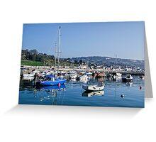 Lyme Regis Harbour - April  Greeting Card