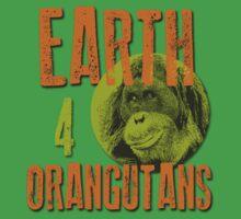Orangutan Leuser E40 Tshirt by Earth 4 Orangutans E40
