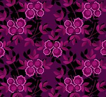 Floral seamless pattern with flowers texture gzhel by fuzzyfox