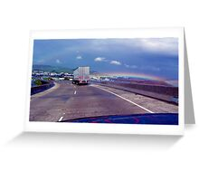 OVER THE NEW TRANSFER BRIDGE Greeting Card