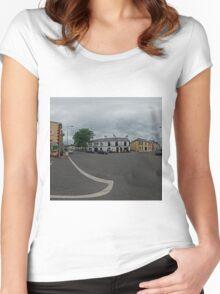Carrick Crossroads, Donegal(Rectangular)  Women's Fitted Scoop T-Shirt