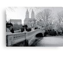 Bow Bridge, Central Park, New York City Canvas Print