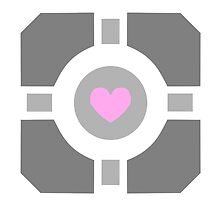 Portal Companion Cube by WonderOri