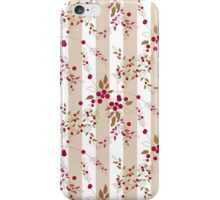 Seamless pattern red wild berries branch texture striped iPhone Case/Skin