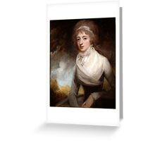 George Romney (1734 -1802) Lady Mary Scott-Montagu, Countess of Courtown, 1793 Greeting Card