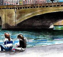 Lovers on the Seine by grayshoe