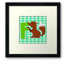 f for fox Framed Print