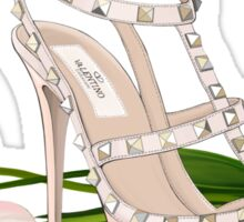 Wedding shoe and tulips Sticker