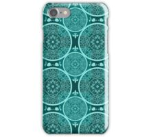 Turquoise abstract  lace pattern texture iPhone Case/Skin