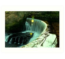 Calder Waterfall, Lochwinnoch Art Print