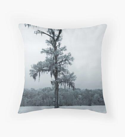 Blue Cypress Throw Pillow