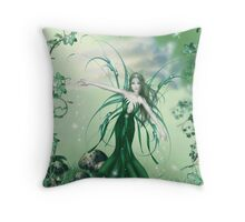Fairy Of The Grass Throw Pillow
