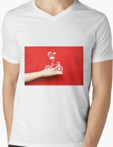 bicycle lovely from hand Mens V-Neck T-Shirt