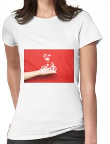 bicycle lovely from hand Womens Fitted T-Shirt