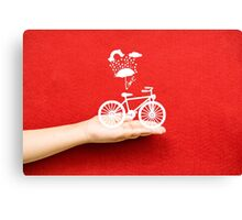 bicycle lovely from hand Canvas Print