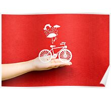 bicycle lovely from hand Poster