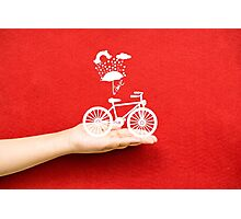 bicycle lovely from hand Photographic Print