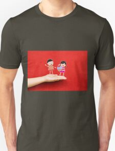 boy and girl with cupcake on a hand T-Shirt