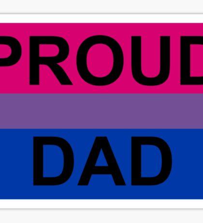 PROUD DAD BI Sticker