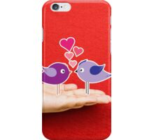 couple birds lovely on a hand iPhone Case/Skin