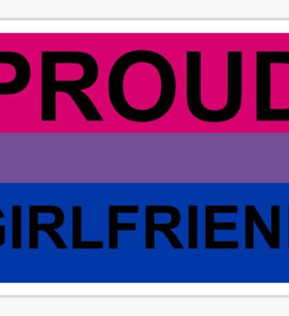 PROUD GIRLFRIEND BI Sticker