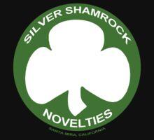 Silver Shamrock Novelties (SSN) Shirt - Traditional White Shamrock Design by shirtcaddy