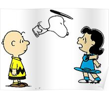 Snoopy And Lucy Peanuts Poster
