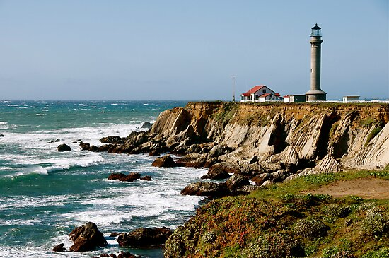 Point Arena Lighthouse by Cheryl  Lunde