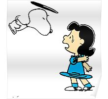 Snoopy kiss Lucy Poster